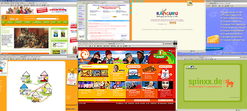 Youth Net Screenshot Collage